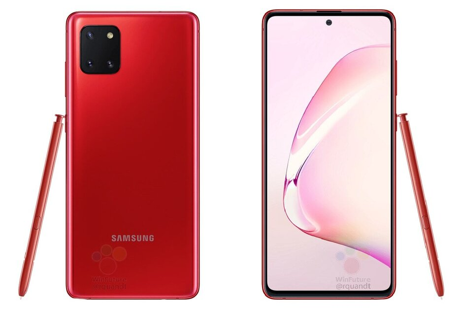 The Samsung Galaxy Note 10 Lite in red - Here's how much the Samsung Galaxy Note 10 Lite will cost
