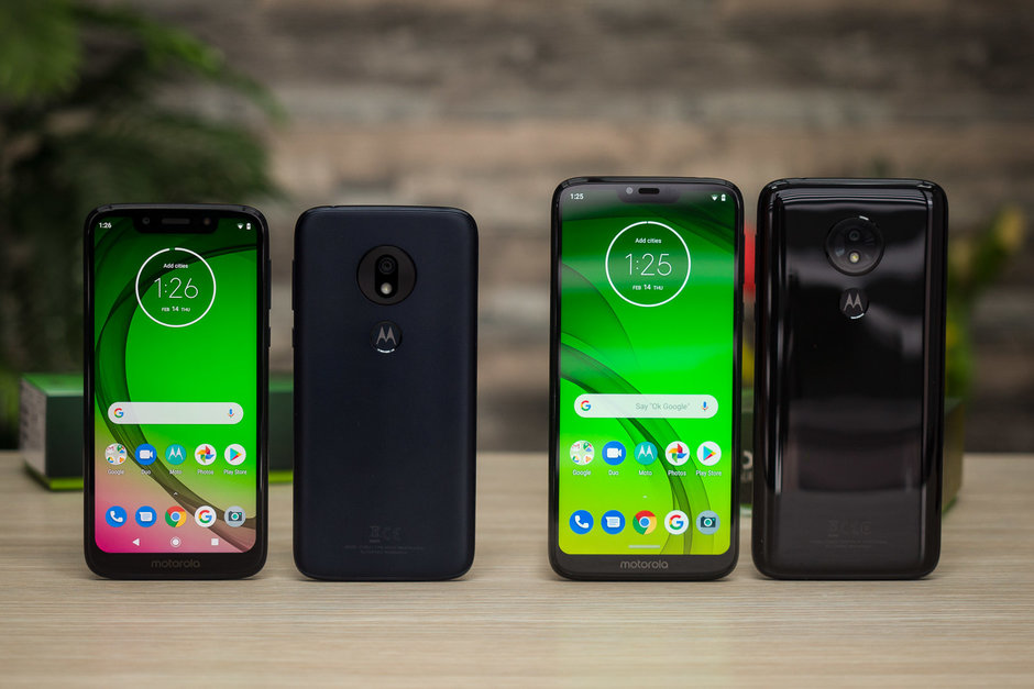 G7 Power on the right - Best budget and affordable phones in 2020: a buyer's guide