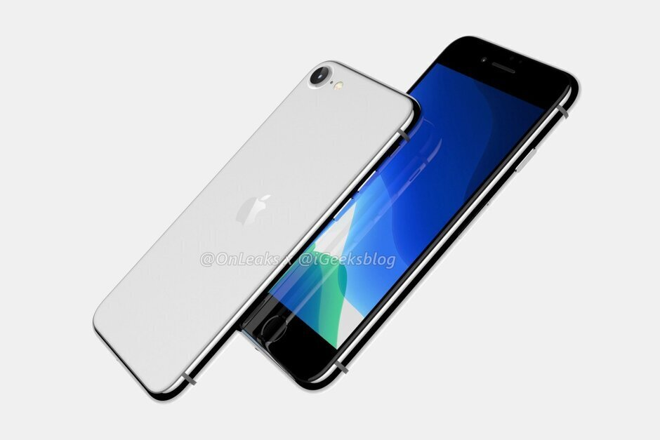 Render of the Apple iPhone 9 which will use the A13 Bionic chipset produced by TSMC - Apple's chip supplier sees strong demand for 5G phones